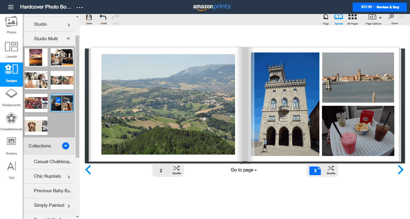 Amazon Photo Books' Designs