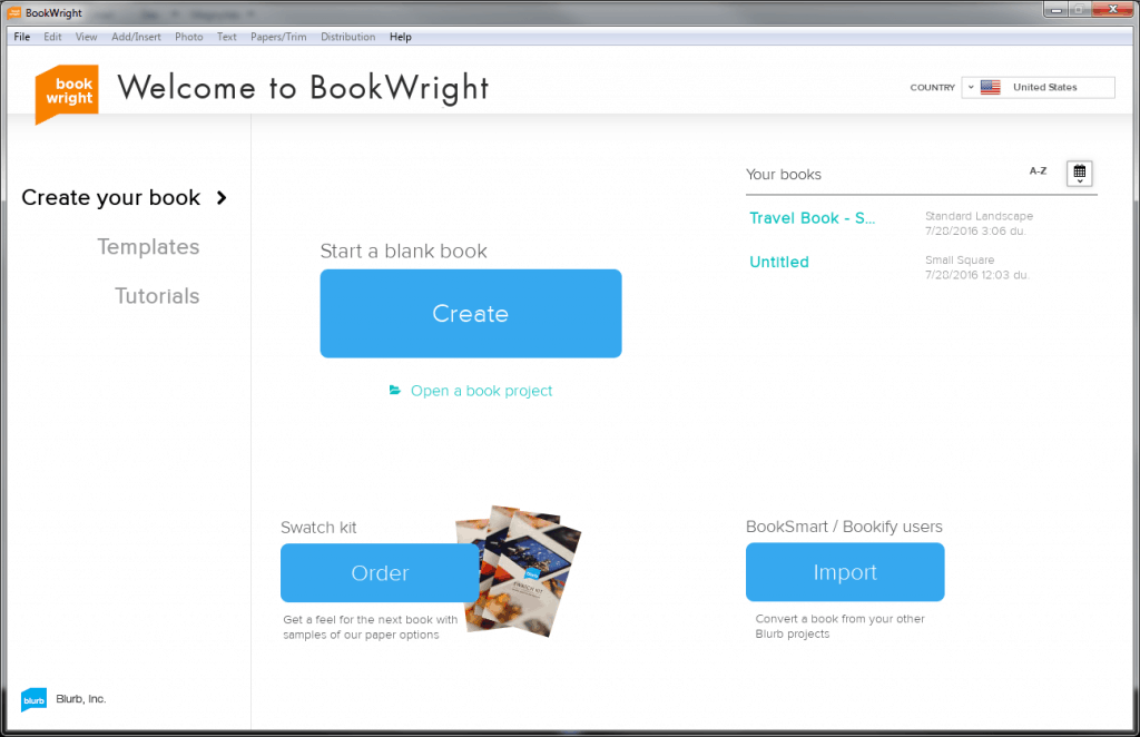 BookWright Software Dashboard