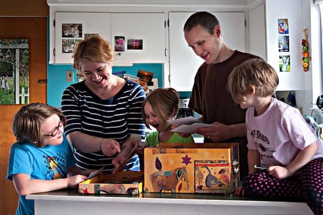 family-sorting-photos
