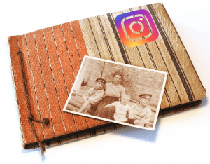Instagram photos in photo book