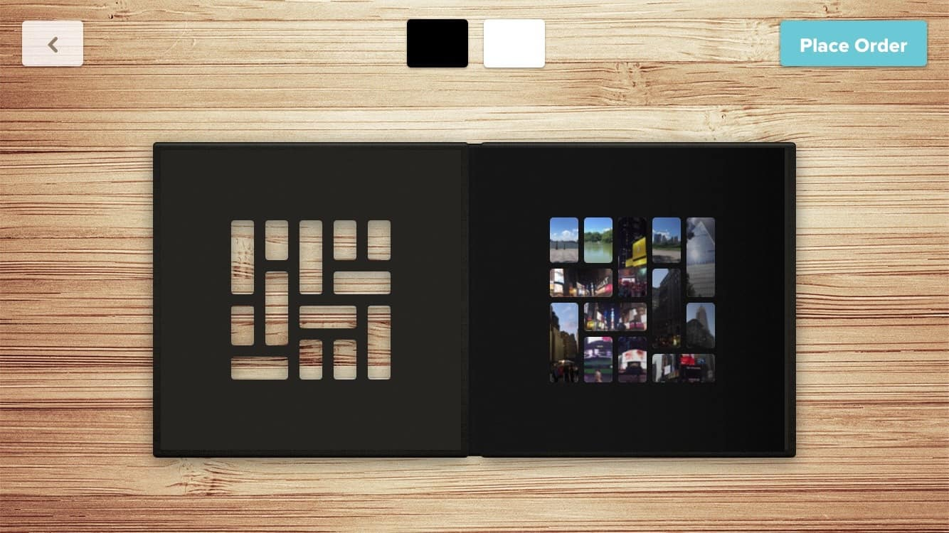 The Mosaic Like Arrangement Of Photos Inside Cover
