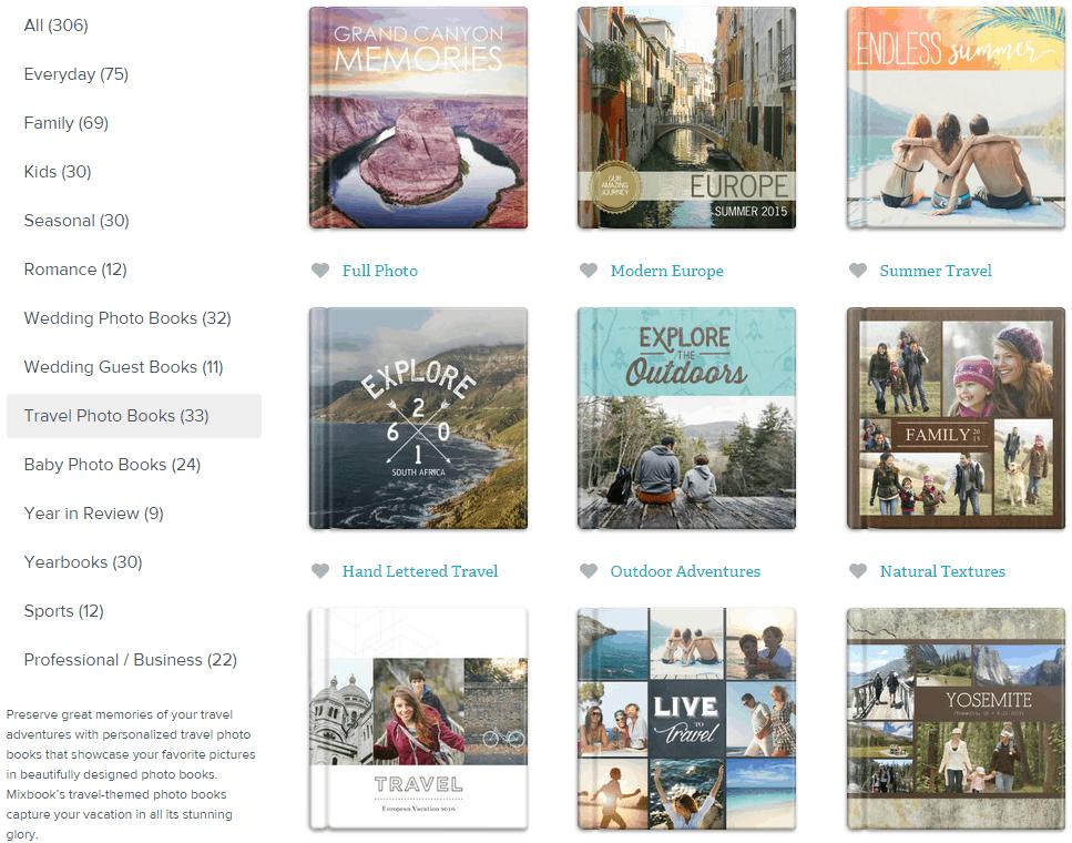 Mixbook Travel Theme Photo Books