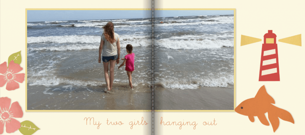 Using Captions in Summer Photo Books